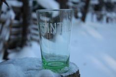 Etched Absinthe Green Pint Glass Moulin Rouge. $9.00, via Etsy.