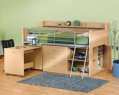 Building a loft bed to maximize space!