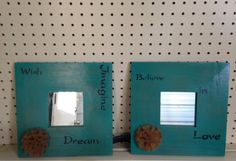 Upcycled wood mirror wall decor.  Upcycled Diva