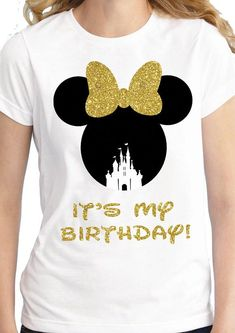 Minnie Mouse Birthday Shirt Get this cool design in your favorite style of shirt and color. And if you want a certain style or color not seen on our site just let us know, and we will see what we can do! It's My Birthday Shirt, Minnie Birthday, Happy Birthday, Birthday Cake, Minnie Mouse Stickers, Minnie Mouse Shirts, Tutu Minnie, Birthday Outfit For Women, Disney World Shirts