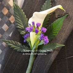 Buds and Blossoms: Cannabis Bouquets for Wedding Parties by Bec Koop - Weedist