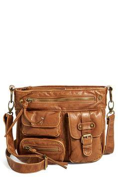 b41efb8f85a7 Multipocket Faux Leather Crossbody Bag
