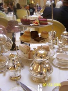 Afternoon tea at the Ritz in London. It is the BEST