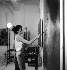 Artist and Studio, Contemporary artists: Alyssa Monks, Willow Bader,. Artist Loft, Artist At Work, Atelier Creation, Top Tours, Dream Studio, Painting Studio, Loft Spaces, Studio Spaces, Living At Home