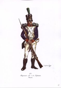 Argentinia army of independence, Infantry regt 4 Cazadore 1814