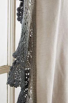 Santina Lace Curtain - anthropologie.com