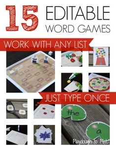 AH-mazing!! Type in new sight words and they automatically load into the games. Use it with any list, year after year.