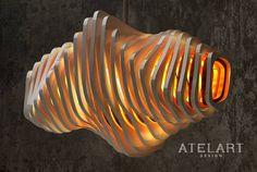 Wirbel lamp Contacto@atelart.con #art #atelart #lamp #design #decor #industrialdesign #interiordesign #arquitecture #shapes #wood #workinprogress #light #parametricdesign #parametric by atelart_design Lamp Design, Wood Design, Modern Lighting, Lighting Design, Laser Cut Lamps, Movable Walls, Light Contouring, Parametric Design, Wooden Lamp