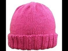 Loom Knit Hat for Beginners - Loom Size, Make Brim, Change Color - All Sizes - YouTube
