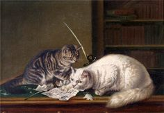 Любознательные котята... Horatio Henry Couldery (British, 1832-1893). Обсуждение на LiveInternet - Российский Сервис Онлайн-Дневников