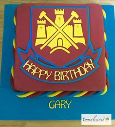 West Ham Cake 2...! Dad Birthday Cakes, Blowing Bubbles, Cake Board, Cakes For Men, West Ham, Cake Designs, Cake Decorating, Projects To Try, Birthdays