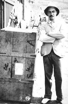 Andries Smorenburg and his crate [Saint Helena Island Info:Boer Prisoners Saint Helena Island, St Helena, Atlantic Ocean, Prison, Saints, History, Crate, War, Type