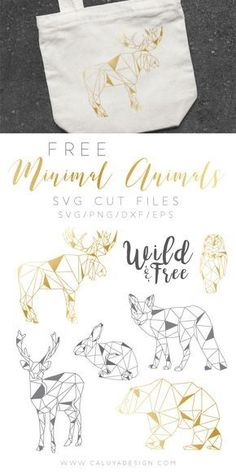 Free Geometrical Minimal Animal SVG cut files, compatible with Cricut, Cameo Silhouette and other major cutting machines. DXF, PNG and EPS files included. Bunny SVG cut file, Moose SVG cut file, owl SVG cut file, Deer SVG cut file, Bear SVG cut file, fox SVG cut file, Free SVG cut file.