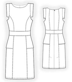 The most simple dress - pattern