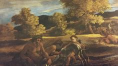 LANDSCAPE WITH A RIVER GOD. suggested date : 1626. oil on canvas. 77 × 89 cm. New York. Patty Cadby Birch Collection, on loan to the Metropolitan Museum of Art. Nicolas Poussin, Metropolitan Museum, Art Museum, Birch, Oil On Canvas, River, York, Landscape, Painting