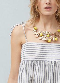 Metal piece necklace | MANGO
