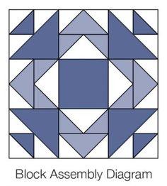 "Assemble a 12"" Mother's Favorite block."