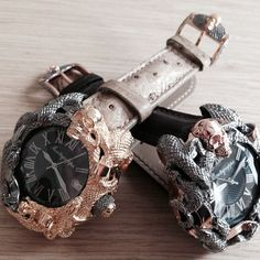 Two Bespoke versions of our Chaos watch... #montegrappa #chaos #montegrappachaos  #watch