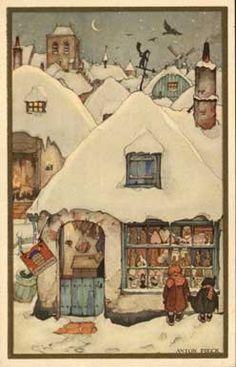 Anton Pieck....sneeuwhuisje