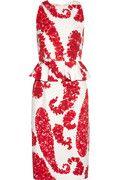 Click to zoom    Play Video      You may also like      GIAMBATTISTA VALLI      GIAMBATTISTA VALLI      PETER PILOTTO                 Giambattista Valli     Printed cotton-blend brocade peplum dress   $2,100