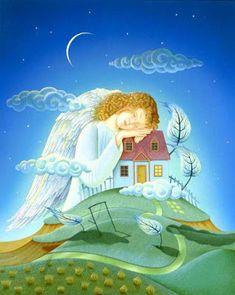 "Иллюстрация ""Nip and Fenny"" Иллюстрация ""Ladybug Magazine"". Canvas Light Art, Seraph Angel, Laide, Angel Guide, Lighted Canvas, Angel Pictures, Angels Among Us, Angel Cards, Naive Art"