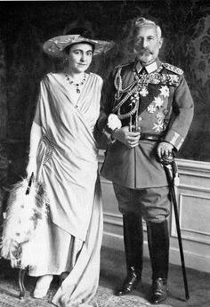 Their Imperial and Royal Majesties Kaiser Wilhelm II and Kaiserin Hermine of Germany. Married:  November 5, 1922