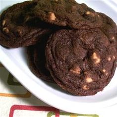 Chewy Chocolate Peanut Butter Chip Cookies - substitute shortening for half the butter, use 1 cup white sugar and 1 cup brown sugar, double the vanilla - fantastic!!!!!!