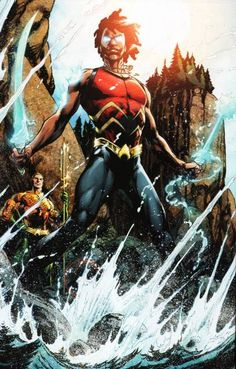 He looks like me.. Aqualad New 52 Garth's successor, Kaldur'ahm (Jackson Hyde) is the son of Black Manta. Despite his father's lifestyle he's chosen the path of the hero as Aqualad. Due to biological experimentation conducted by Xebelian outlaws, Kaldur has the unique ability to construct hard objects and weaponry from water such as a sword and mace.