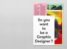 Brochure for the graphic design school (Fachklasse Grafik) in Lucerne - Fachklasse