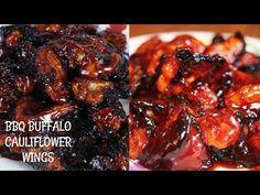 Cauliflower Buffalo Wings! Raw Vegan Snack Ideas! - YouTube