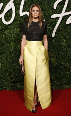 Olivia Palermo at the British Fashion Awards in London. See all of the model's best looks.