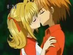 Luchia and Kaito kiss Kaito, Anime Chibi, Manga Anime, Anime Art, Romantic Anime Couples, Cute Anime Couples, Mermaid Melody, Mermaid Princess, Anime Mermaid