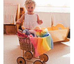 Rainbow doll blanket, waldorf dolls sarahssilks.com