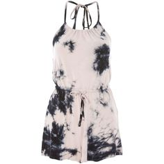 TopShop Tie Dye Jersey Playsuit (57 CAD) ❤ liked on Polyvore featuring jumpsuits, rompers, romper, dresses, topshop, jumpsuit, jumpsuits and rompers, multi, tie dye romper and topshop rompers