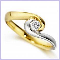 anillos de oro blanco de compromiso