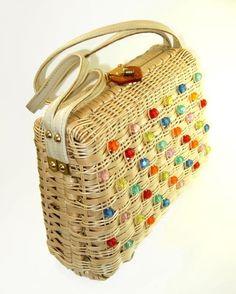 vintage beaded box purse