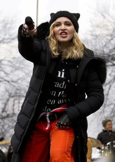 Madonna sings Express Yourself and Human Nature at Women's March on Washington Cher (11)