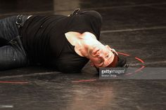 Gavin Creel, the lead actor in ART's 'Prometheus Bound,' at rehearsal…