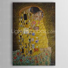 Hand-Painted Abstract / Famous / PeopleClassic / Modern / Traditional One Panel Canvas Oil Painting For Home Decoration 2016 - $75.99
