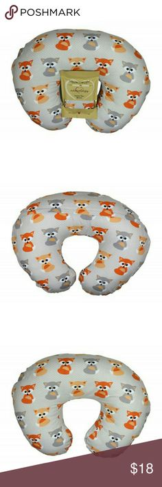 Nursing Pillow Slipcover Baby Gray Foxes Design Our nursing pillow covers are designed to fit 20 x 16 and 22.5 x 18 inch nursing pillows (sold separately).?  Made from 100% cotton, the Adorology? Nursing Pillow Cover helps you protect your baby?s sensitive skin from harmful substances used in conventional fabrics. And because it is made of cotton, we thoughtfully considered shrinkage so your slipcover should have a snug fit after washing.? Adorology Other