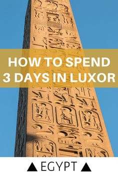 What to do for 3 days in Luxor, Egypt, the world's biggest open-air museum. Highlights include the Valley of the Kings, Karnak and Luxor Temples. Israel Travel, Egypt Travel, Africa Travel, Egypt Tourism, Luxor Temple, Luxor Egypt, Travel Advice, Travel Guides, Travel Tips