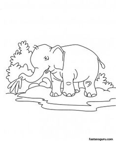 printable jungle animals | coloring pages jungle animals 006 ... - Baby Jungle Animal Coloring Pages