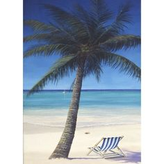 Palm Tree On The Beach Printed Roller Blind - Printed Blinds | Milan Curtains  #rollerblinds #homedecor #interiordesign