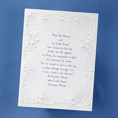 Embossed Flowers - Invitation by Carlson craft