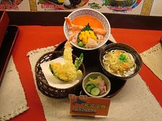 Japanese plastic food.