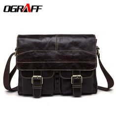 Check it on our site OGRAFF Genuine leather bag men messenger bags Casual Business Cowhide Shoulder Crossbody Bag Travel Laptop Briefcase Bag for Man just only $39.01 with free shipping worldwide  #crossbodybagsformen Plese click on picture to see our special price for you