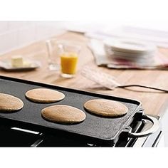 Ohh a Double griddle. Does anyone know if this works on an electric stove? #bySandraLee