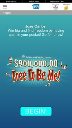 Online instant win cash sweepstakes