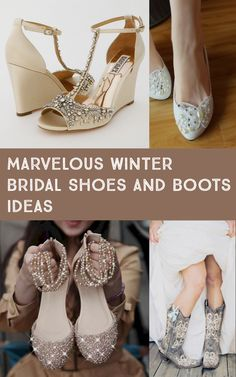 a94c74272290 15 Marvelous Winter Bridal Shoes And Boots Ideas