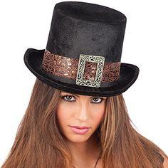 Carnival Toys - Sombrero de copa steampunk de terciopelo para adultos 5e48f5e4830